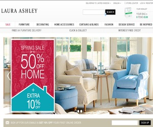 Laura Ashley is a popular fashion and home furnishing company specialising in bed linen, lighting, wallpaper, cushions, tees, jackets, dresses, pants, and much more. Shop online at Laura Ashley to browse the latest catalogues and weekly ads for hot deals and special offers.