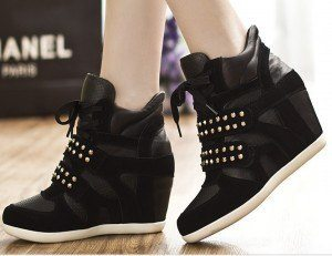 2014-New-Fashion-Korean-Velcro-Rivets-Wedges-Sneakers-For-Women-isabel-marant-High-top-Genuine-Leather