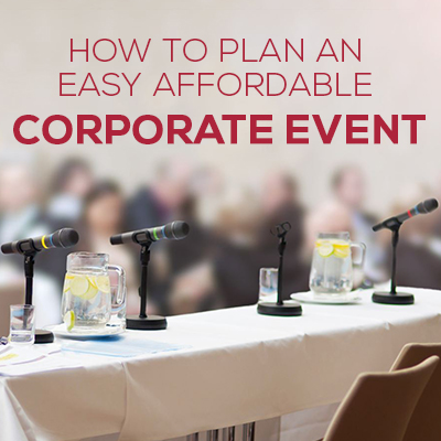 Affordable Corporate Event