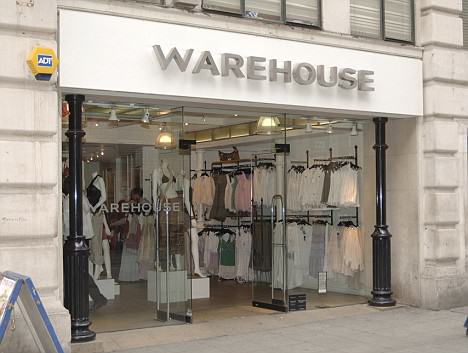 Warehouse fashion store