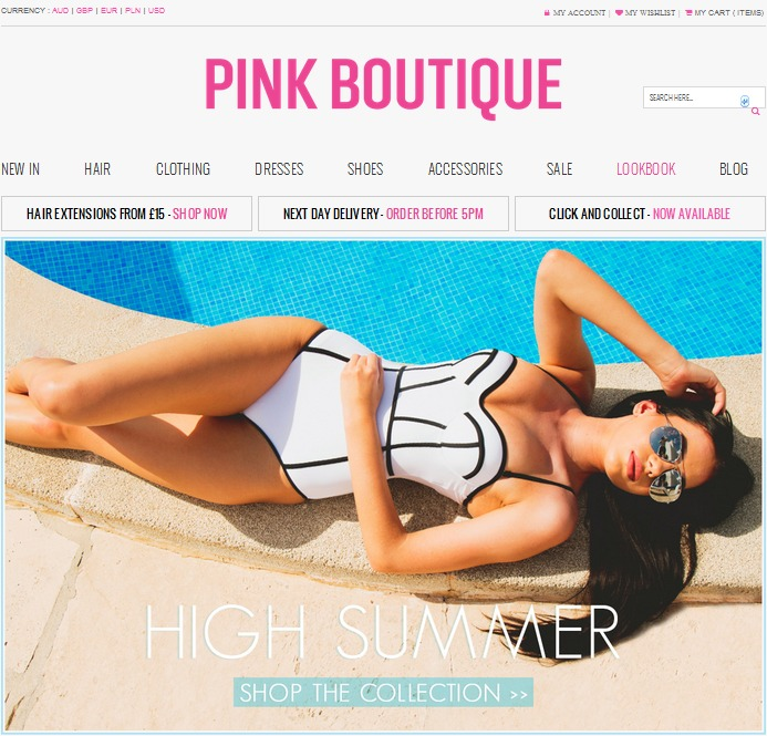Pink Boutique Screen Shot
