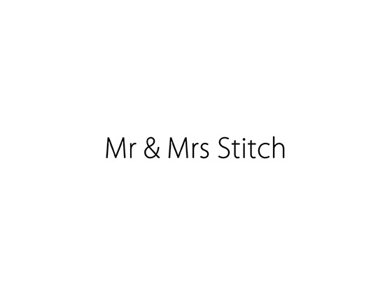 Mr and Mrs Stitch Discount Code
